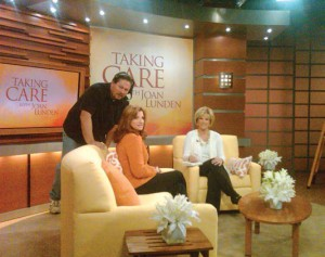 Joan and Dr. Alexis on the set of Taking Care.  Photo: Compliments of RLTV.