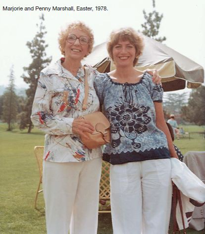 Penny Marshall and mom