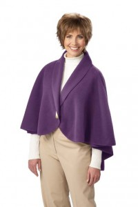 Tops, such as a cape, that fasten in the front and are loose-fitting are ideal for Alzheimer's patients.