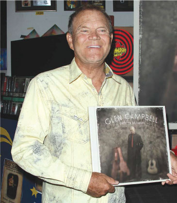 Glen Campbell at the Ghost on the Canvas CD signing.