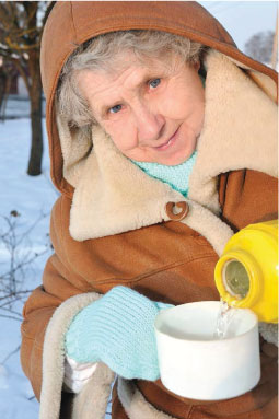 Bundle up to prevent winter's chill from causing  problems outdoors.