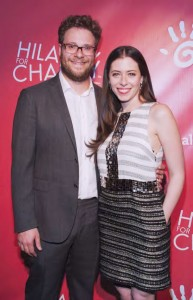 Seth Rogen and Lauren Miller arrive at a Hilarity for Charity Event