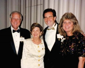 Jim with his beloved family: Jim, Doris, and sister Nancy Hockaday