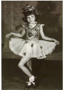 Penny Marshall in dance school in the 1940s.