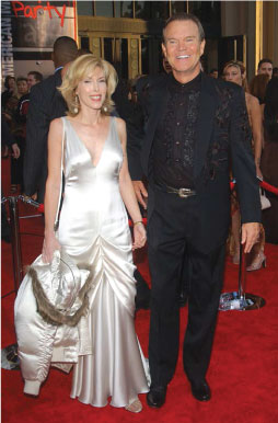 Glen Campbell and wife, Kim, at the American Music Awards in Los Angeles.