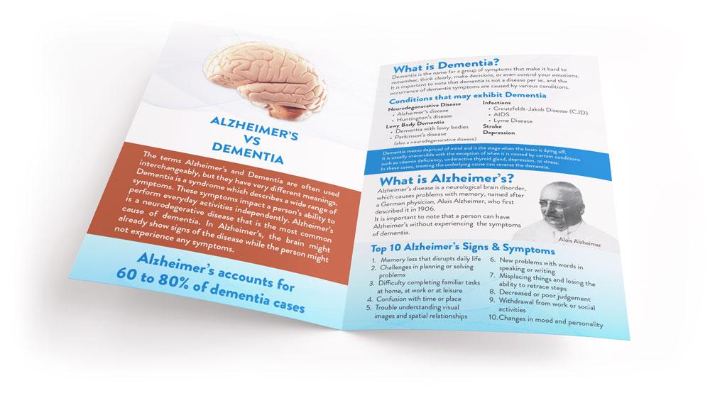 Alzheimer's vs Dementia Brochure