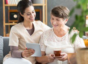 happy caregiver - LEAF program