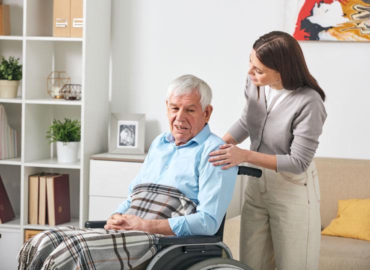 Alzheimer's Stages - Alzheimer's Patient in Wheelchair